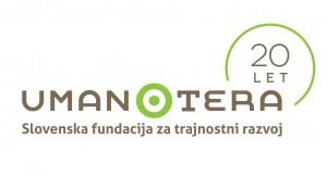 Logo Umanotera 20 let-slo